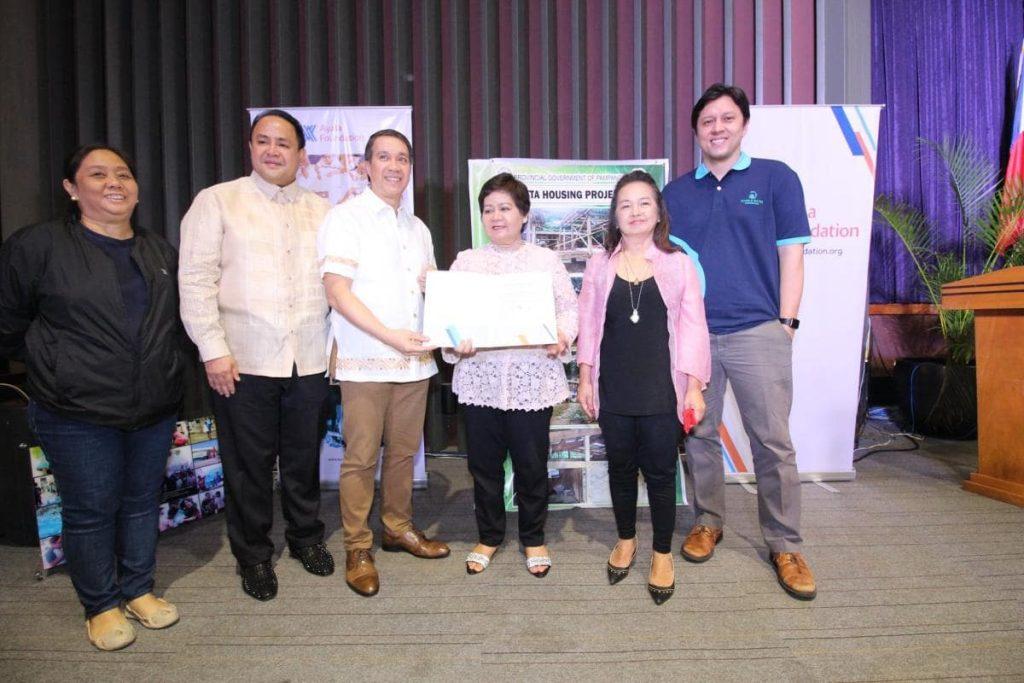 Ayala officially turns over donations to Pampanga