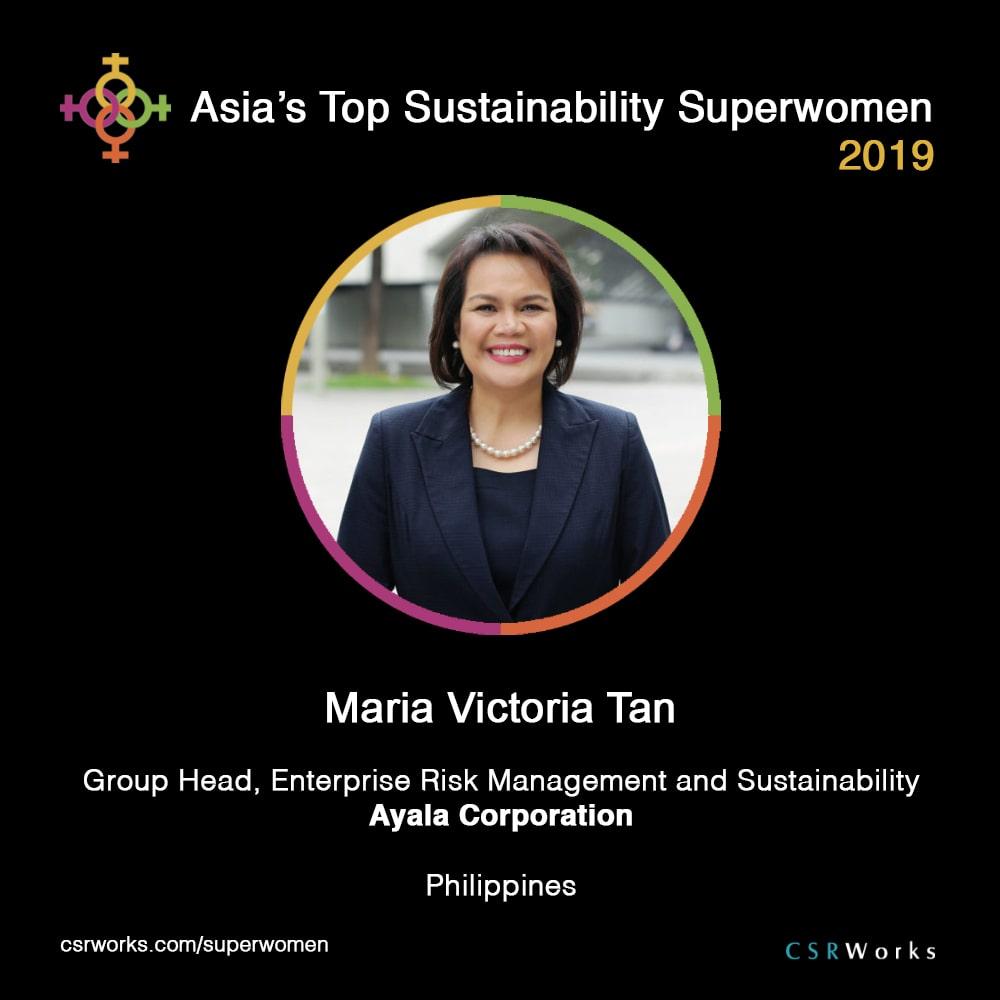 Ayala's Head of Sustainability Unit among Asia's Top Sustainability Superwomen