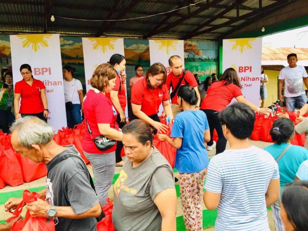 BPI employee volunteers distributed relief goods