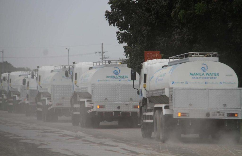 Manila Water tankers distribute potable water