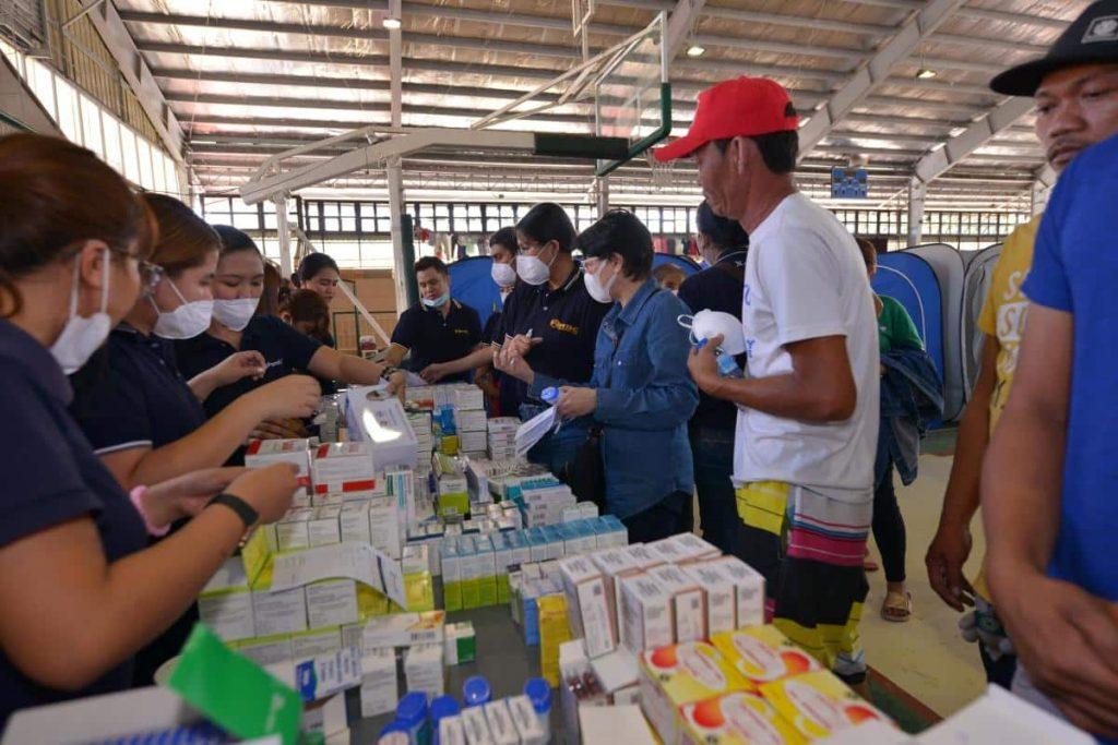 Patients at Poblacion Alitagtag's evacuation center